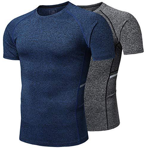 Noctiflorous Abbigliamento Sportivo da Allenamento di Base, t-Shirt da Uomo Asciugatura Rapida per...