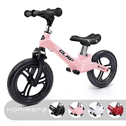 KORIMEFA 12' Bici Senza Pedali Leggera Bicicletta per Bambini Biciclette Equilibrio Prima Bicicletta...