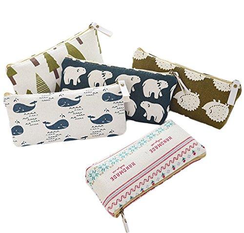 BIGBOBA 5PCS mini canvas portamonete portafoglio da donna borsa portamonete piccolo carino borsa...