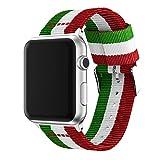 Orologio da polso per Apple Watch 38/42mm, in tessuto di nylon sostituzione del cinturino Wristband Watch Band Vneirw