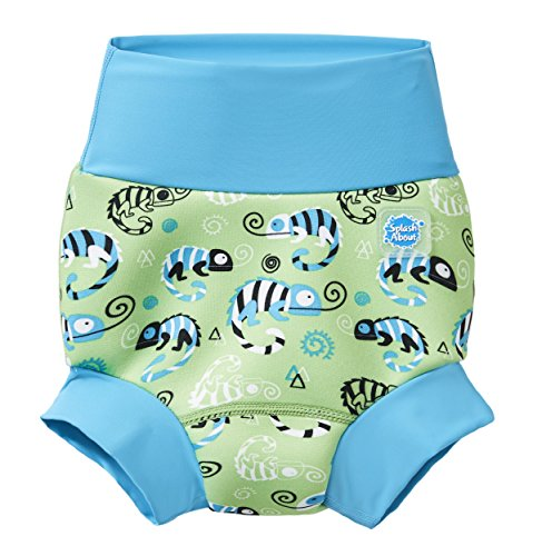 Splash About Baby Kids New Improved Happy Nappy, Green Gecko, 6-12 Months