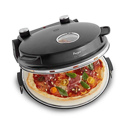 Forno per Pizza Peppo, Pizza Maker Elettrico a 350 °C con Timer e Spia di Cottura, incluse 2...