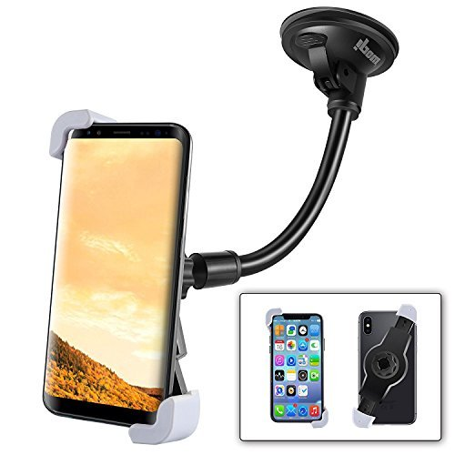 ipow Car Phone Holder, Universal Dashboard Car Mount Windshield Car Cradle For Iphone 7/7 Plus 6/6 Plus 6S Htc Sony Lg And Other Smartphones Up To 6 Inches, 360 Degree Rotation