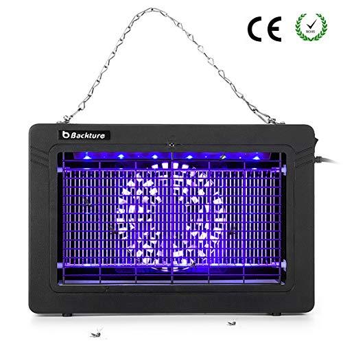 BACKTURE Zanzariera Elettrica, 7W Risparmio Energetico UV Lampada Antizanzare con Cassetto Raccogli,...