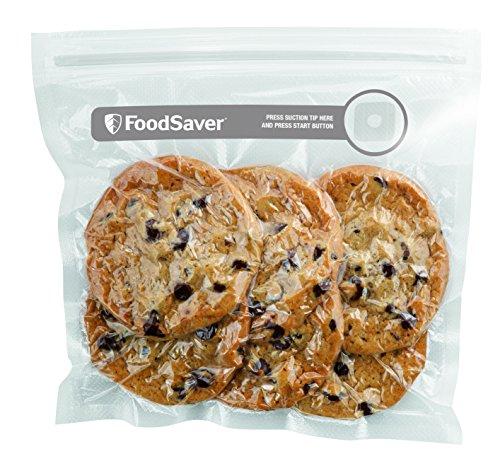 FoodSaver Sacchetti con Zip Salva Freschezza Sottovuoto, senza BPA, 26 Pezzi