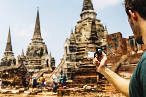 Sony FDR-X3000R + AKA-FGP1 Camera d'action ultra-stabilisée/4K | Travel Kit | Blanc 23