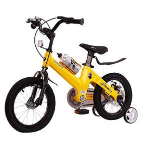 Bicicleta para niños 2-8 años a Prueba de Golpes Bicicleta para niña con Freno 12/14/16 Pulgadas Bicicleta para niños con Rueda Auxiliar