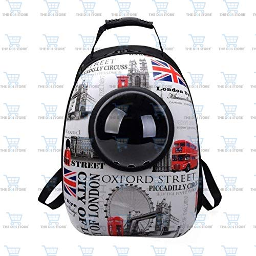 The DDS Store Pet Portable Carrier Space Capsule Backpack, Pet Bubble Traveler Knapsack Multiple Air Vents Waterproof Lightweight Handbag for Cats Small Dogs & Petite Animals