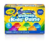 Crayola - Pintura Lavable para niños (6 Botes)