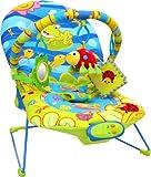 Inside Out Toys - Silla mecedora, musical y vibradora para bebé - 3 posiciones - Rana alegre