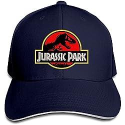 Gorra Jurassic Park de Yhsuk con visera sandwich, azul marino