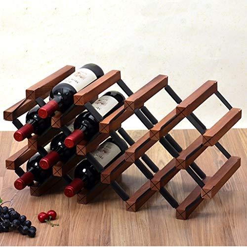 LNDDB Cremagliere del Vino Bottiglia di Vino in Legno, Supporto Indipendente, mensole, deposito da...