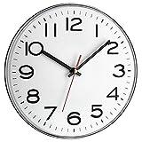 TFA Dostmann Analoge Wanduhr, 60.3017, Küchenuhr, groß, gut ablesbar, Weiß