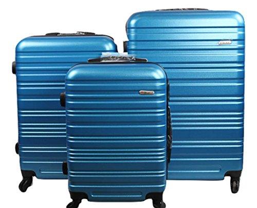 Dublin 3 set da 3 pezzi valige trolly in ABS e policarbonato con 4 ruote girevoli 360° gradi colori...