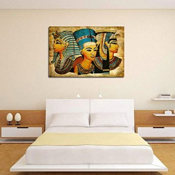 Arte de la Pared de la Lona,   Antiguo Egipcio Mural Completo de la Pintura al óleo 40 * 60Cm Egipto Pintura de la Pared Oil-Picture Completo de la Figura Pharaoh Home Decor 6