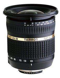 Tamron B001NII SP AF 10-24/3.5-4 - Objetivo para Nikon (distancia focal 10-24mm, apertura f/3.5-4,5, macro, diámetro: 77mm) negro