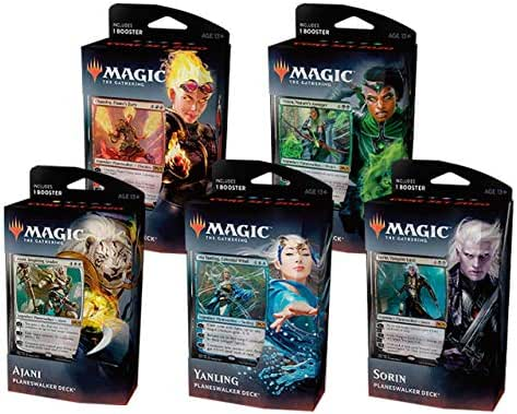 Magic The Gathering C60250000 - Core Set 2020 Planeswalker Decks 5-teilig