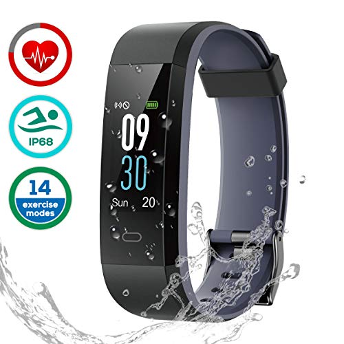 Fitness Tracker Impermeabile IP68, LATEC Smartwatch Cardiofrequenzimetro Activity Tracker Schermo a...