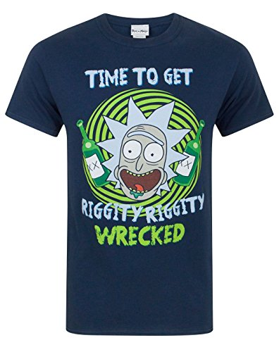 Rick And Morty Riggity Riggity Wrecked Men's T-Shirt (S)