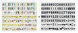 Ai-life 252 Piezas DIY Decorativos Especiales Cinema Signos Símbolos Letras Emojis Números, Signos de Cine para Caja de luz de Tamaño A4, Set Complementario en Color/Negro