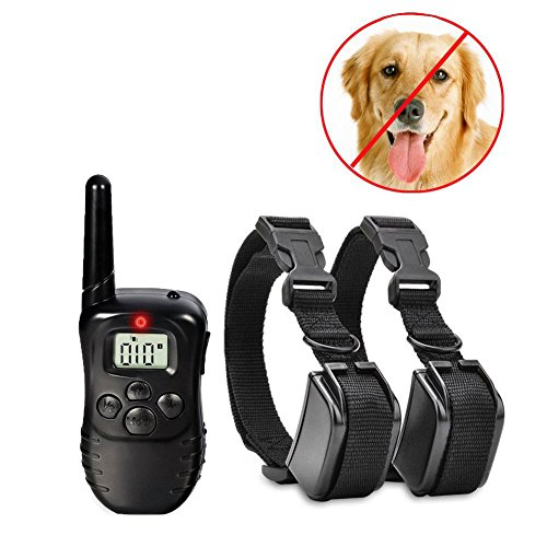 Generic Dog Training Collar 300 m 100LV Remote Rechargeable and Waterproof Vibration Shock Electronic Collars