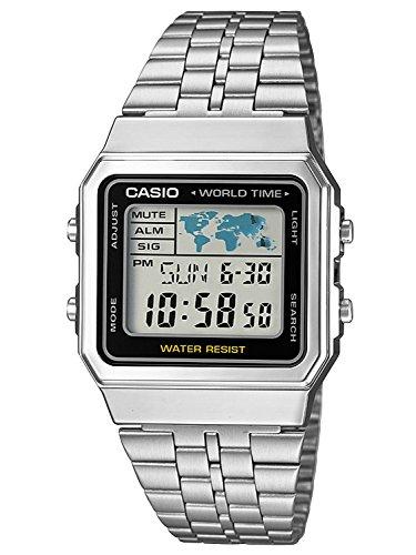 Casio Orologio Digitale Quarzo Uomo con Cinturino in Acciaio Inox A500WEA-1EF