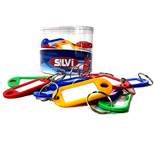 Silvi Key Tag Label Keychain-Multi(pack of 50 pcs)