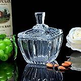 Creativo vaso caramelle di vetro/vaso/scatola metallica/Vaso di snack/gioiello/chiave serbatoio/spice vasetti