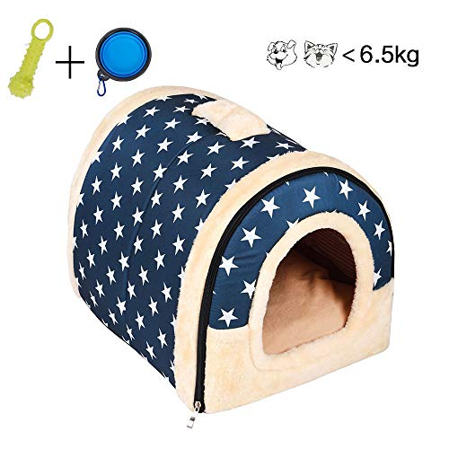 Enko Cuccia/letto 2 in 1 per animali domestici, portatile e pieghevole, elegante e comoda,per cani e...