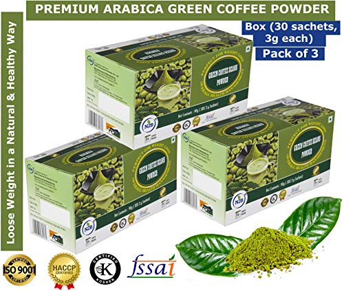 N2b Green Coffee Beans Powder For Weight Loss 30 Sachets 3g