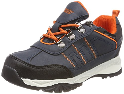 Latupo GmbH - Shoes Irmi, Scarpe da Arrampicata Basse Unisex-Bambini, Blu (Navy/Orange), 28 EU