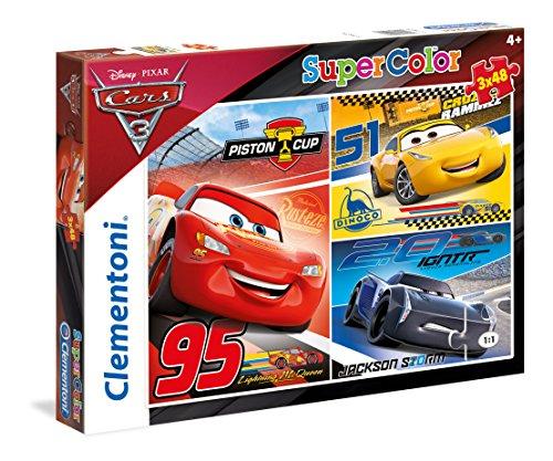 Clementoni 25221-Puzzle Cars 3, 3 x 48 Pezzi, Multicolore, 25221