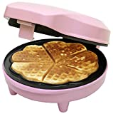 Bestron ASW217 Piastra per Waffle, 700 W, Plastica, Rosa