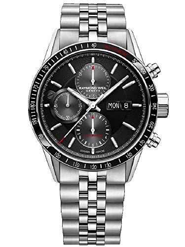 Raymond Weil cronografo automatico nero quadrante mens orologio 7731-st1-20621
