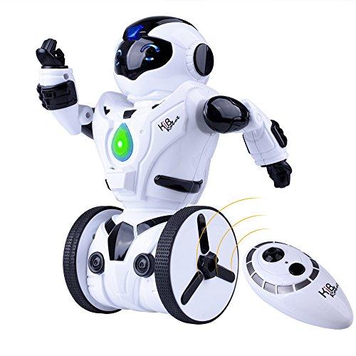 51meyAOWKKL - Kuman Robot Multifuncional de Control Remoto para Niños 2,4 GHz, Mini Robot Electrónico, 5 Modos de Funcionamiento, Baile, Boxeo, Conducir, Cargar, Detección de Gestos, Súper divertido Robot RC 1016A