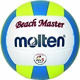 Molten MBVBM - Pallone da beach-volley misura 5, colore: Bianco/Giallo/Blu