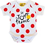 Le Tour de France Official Collection Baby Boy's King of the Mountains Bodysuit, white, 12 Months