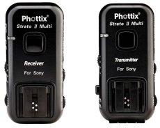 Phottix Strato II - Kit de 2 receptores disparadores para flash, negro