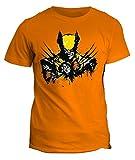 fashwork Tshirt Wolverine x Men Super Eroe Logan Howlett Uomo Donna Bimbo Tutti i Colori - in Cotone by