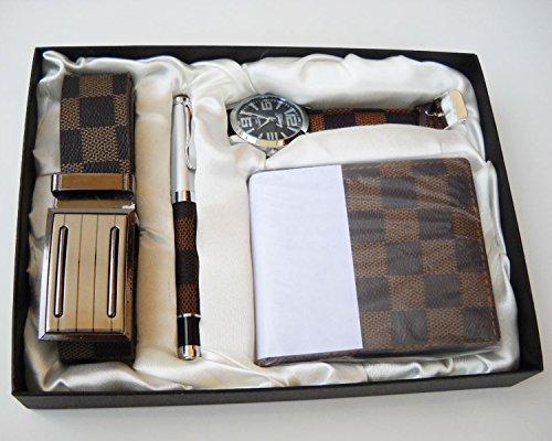 Cofanetto regalo uomo orologio penna portafoglio e cintura set laurea