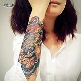 """Tatuaggio Temporaneo Realistico di artista """"Blue Dragon"""" - ArtWear Tattoo Friends - B0016 M"""
