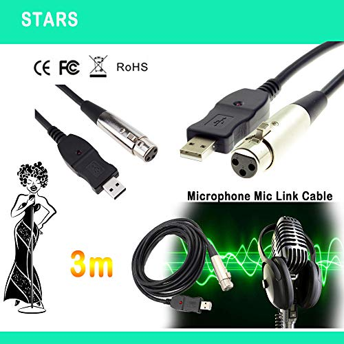 3M USB Microphone Mic Link Cavo Adapter Male XLR Female für PC für Notebook MAC