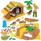 Kits de portal de Belén en 3D, perfectos para decoraciones y manualidades infantiles (unidad).