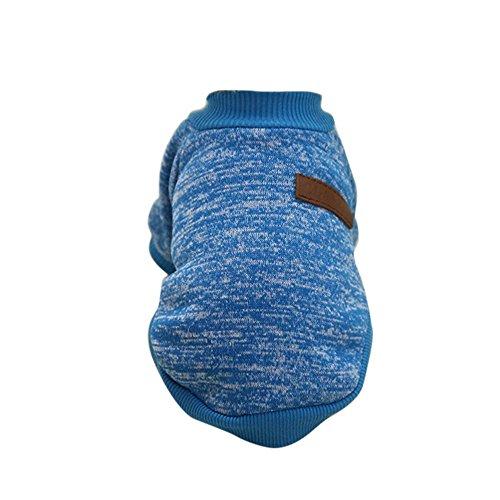 URIJK Hundepullover Hund Kleidung Winter Haustier Katze Hundebekleidung Warm Jacke Mantel