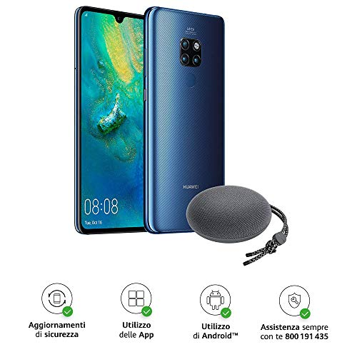 Huawei Mate 20 Pro (Black) più Cover Originale, Telefono con 128 GB, Display Oled 6.39' QHD+, Processore Octa Core dinamico con Intelligenza Artificiale [Versione Italiana]