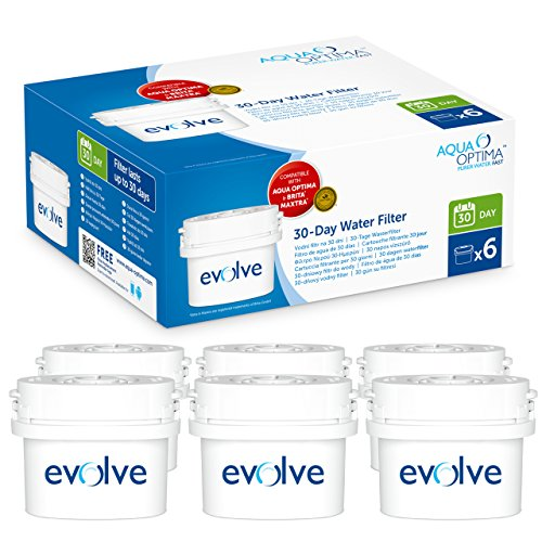 Aqua Optima Evolve 30-Day water filter cartridge bundle (6 months of Aqua Optima Evolve 30-Day) (6 cartridges)