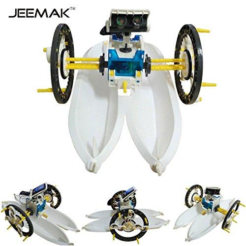 51nA2WC2sFL - JEEMAK 14-en-1 para la Educación Solar Robot Kit
