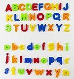 VicPow Letras y números magnéticos,80 Piezas,Multicolor