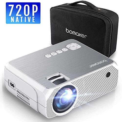 Proiettore, Mini Proiettore Portatile 3600 Lumen, BOMAKER LCD Videoproiettore Risoluzione Nativa...