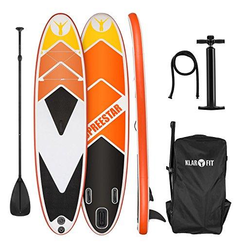 Klarfit Spreestar 325 aufblasbares Paddelboard Sup-Board-Set 325x15x86 orange